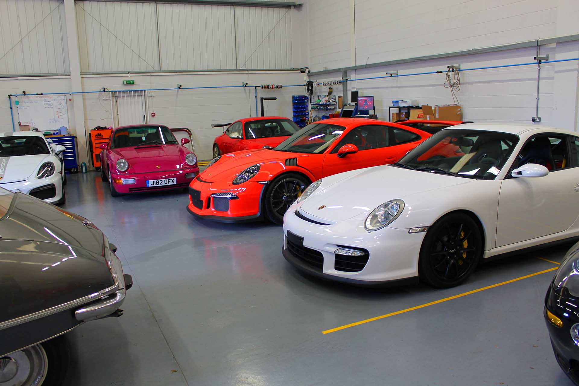 a selection of imported cars in our testing facility