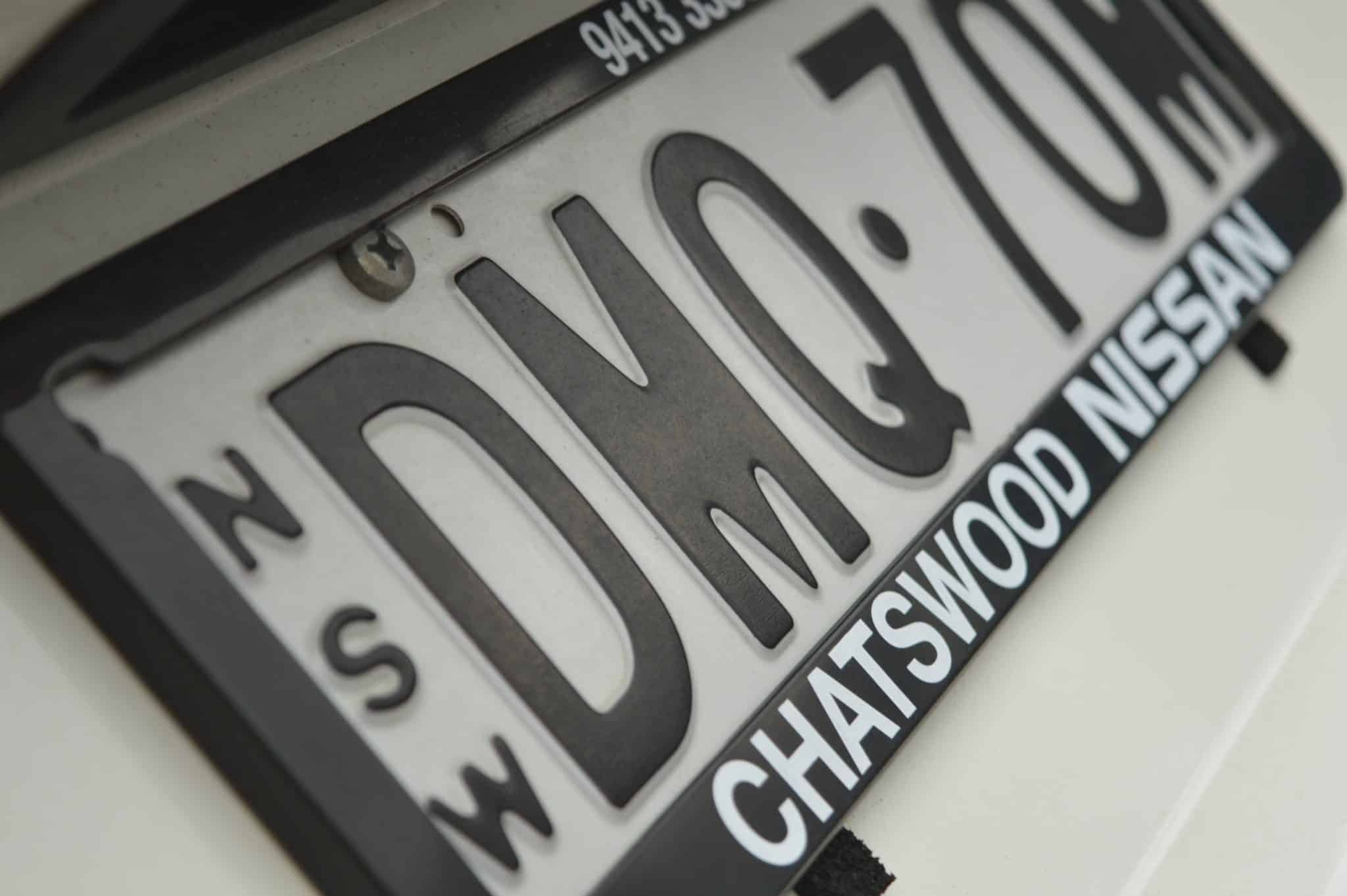 Nissan number plate